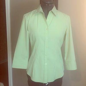Express Stretch Blouse/Top Size 7/8 Light Green